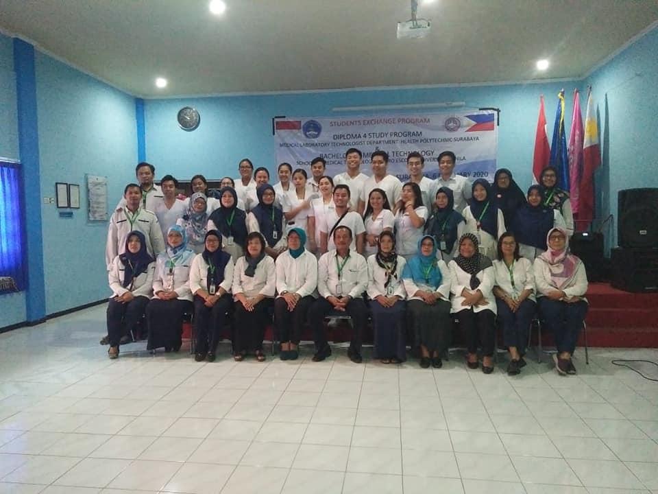 STUDENTS EXCHANGE PRODI D4 & D3 ANALIS KESEHATAN POLTEKKES KEMENKES SURABAYA DENGAN CENTRO ESCOLAR UNIVERSITY MANILA PHILIPPINE 2020